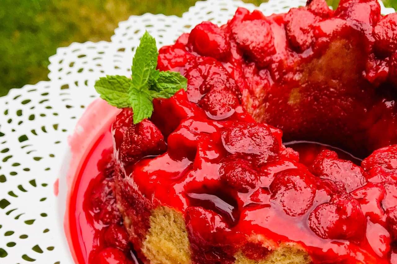 Renversé fraise amande à la vapeur