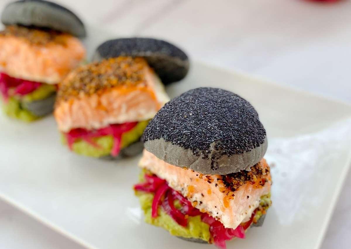 <i class='fas fa-user-lock' aria-hidden='true'></i> Burger Volcano saumon