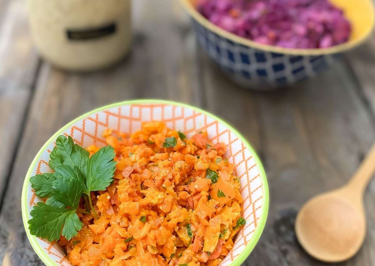Salade de carottes miel moutarde