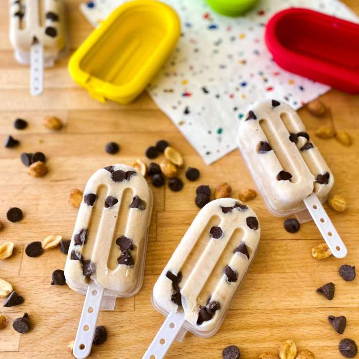 Popsicles banane arachide choco