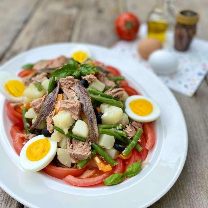 Salade composée style Niçoise